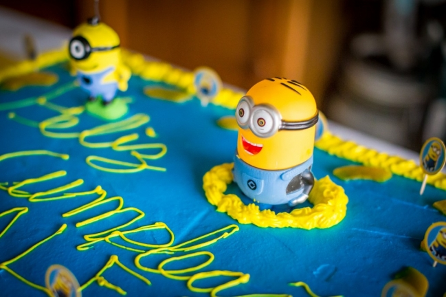 minion, birthday, cake